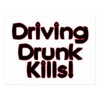 Cartão Postal Conduzindo matares bêbedos
