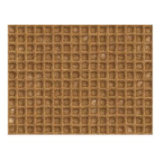 Cartão Postal Cone do Waffle