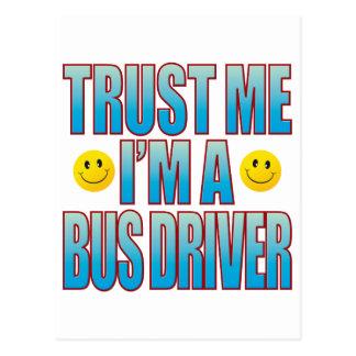 Cartão Postal Confie-me a vida B do condutor de autocarro