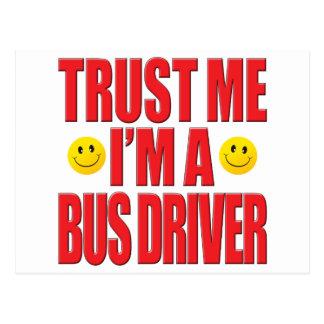 Cartão Postal Confie-me vida do condutor de autocarro