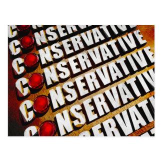 Cartão Postal Conservador