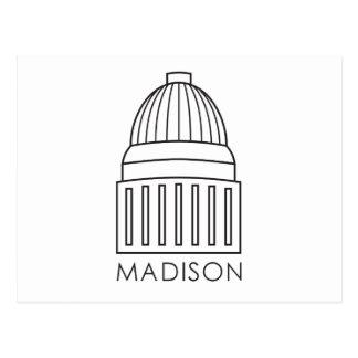 Cartão Postal Construção do Capitólio de Madison Wisconsin