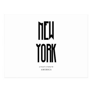 Cartão Postal Coordenada de NewYork