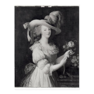 Cartão Postal Cópia de um retrato de Marie-Antoinette