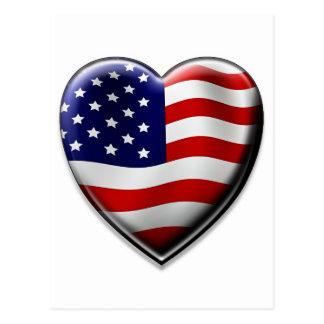 Cartão Postal Coração americano
