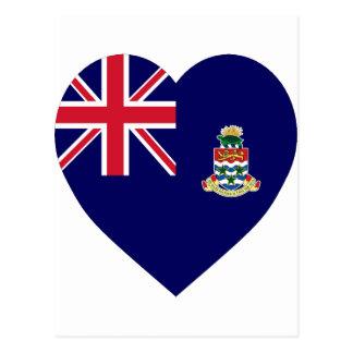 Cartão Postal Coração da bandeira de Cayman Islands