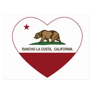 Cartão Postal coração de La Costa do rancho da bandeira de