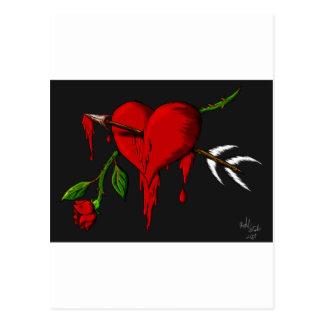 Cartão Postal Coração de sangramento