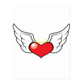 Cartão Postal Coração do anjo