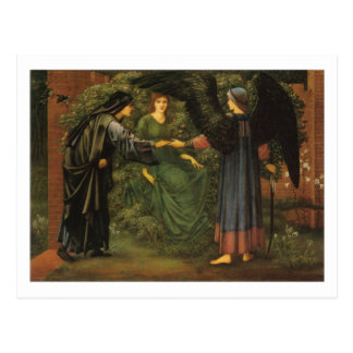 Cartão Postal Coração do rosa - Edward Burne-Jones