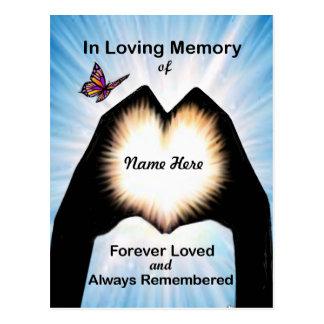 Cartão Postal Coração eterno da mão