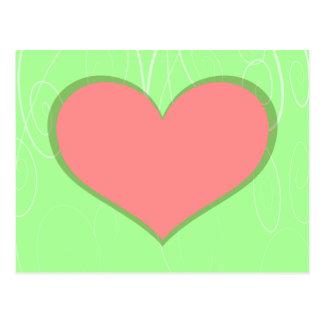 Cartão Postal Corações em redemoinhos