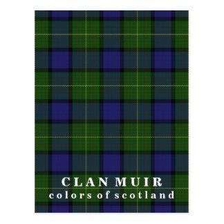 Cartão Postal Cores do Tartan de Muir do clã de Scotland