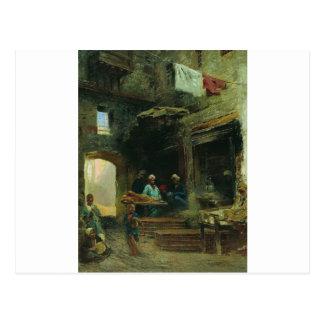 Cartão Postal Corte do Cairo por Konstantin Makovsky