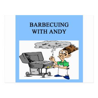 Cartão Postal cozimento na grelha com Andy