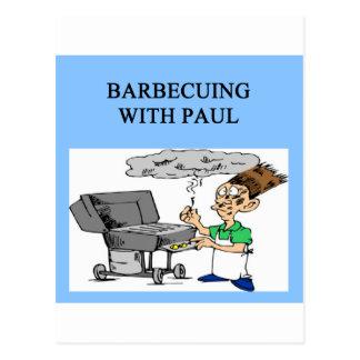 Cartão Postal cozimento na grelha com Paul