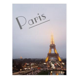 Cartão Postal Crepúsculo de Paris