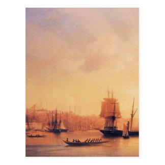 Cartão Postal Crepúsculo no chifre dourado por Ivan Aivazovsky