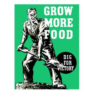 Cartão Postal Cresça mais comida