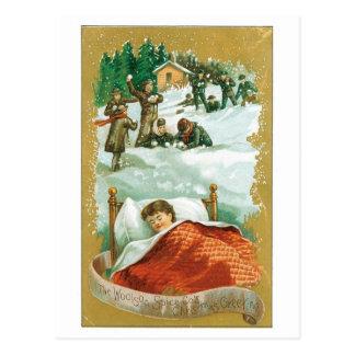 Cartão Postal Criança que sonha sobre o Natal