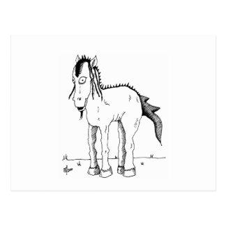 Cartão Postal Criatura do cavalo do punk
