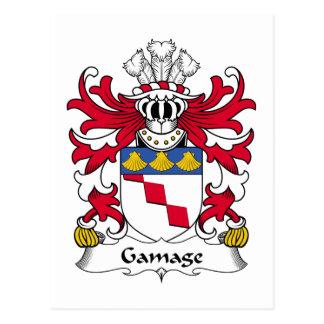 Cartão Postal Crista da família de Gamage