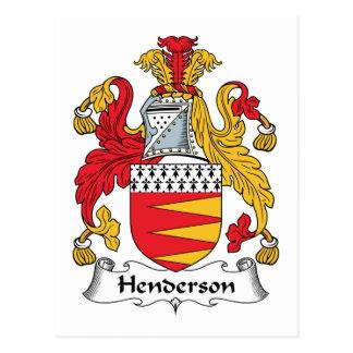 Cartão Postal Crista da família de Henderson