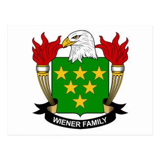 Cartão Postal Crista da família do Wiener