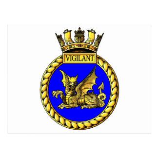 Cartão Postal Crista vigilante do HMS