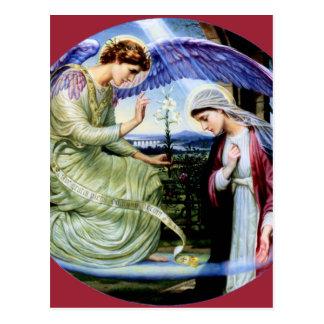 Cartão Postal Cristandade da religião do anjo do santo