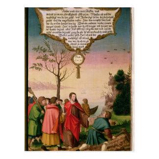 Cartão Postal Cristo que ensina seus discípulo