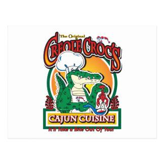 Cartão Postal Crocodilo crioulo do carnaval de Cajun