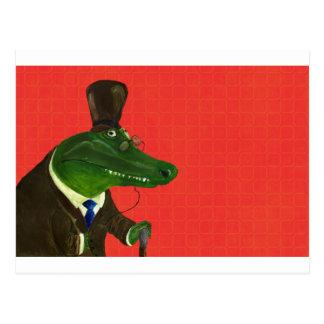 Cartão Postal Crocodilo sábio