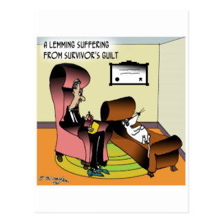 Cartão Postal Culpa do sobrevivente do Lemming
