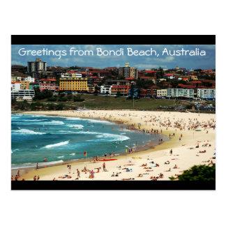 Cartão Postal Cumprimentos da praia de Bondi, Austrália