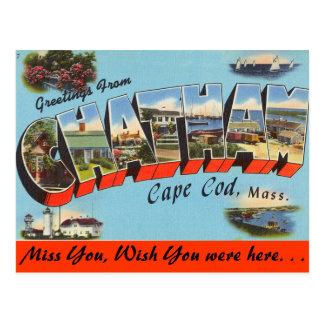 Cartão Postal Cumprimentos de Chatham, Cape Cod