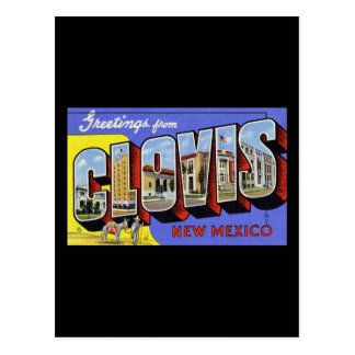 Cartão Postal Cumprimentos de Clovis New mexico