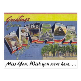 Cartão Postal Cumprimentos de Nevada
