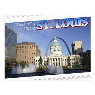 Cartão Postal Cumprimentos de St Louis, Missouri