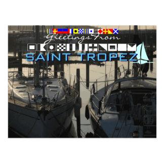 Cartão Postal Cumprimentos do santo Tropez