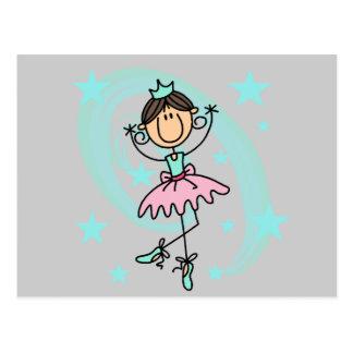Cartão Postal Dançarino de balé - t-shirt e presentes de Brown