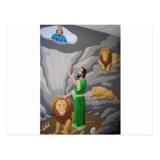 Cartão Postal Daniel no antro dos leões
