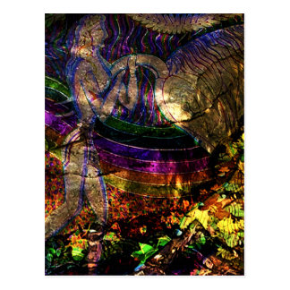 """Cartão Postal De """"cartão antigo da arte do Leaper Bull"""""""