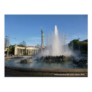 """Cartão postal de fotografia Viena """"monumento de"""