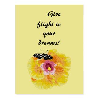 Cartão Postal Dê o vôo a seus sonhos! Borboleta