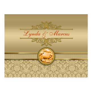 Cartão Postal De pedra preciosa alaranjada do topázio do falso