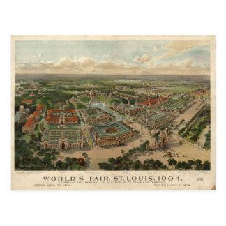Cartão Postal De St Louis a feira 1904 de mundo