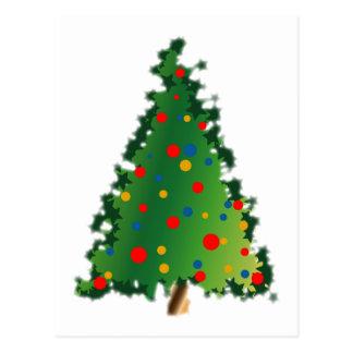 Cartão Postal Decoração da árvore de Natal