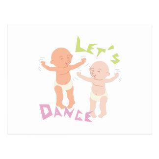Cartão Postal Deixe-nos dançar