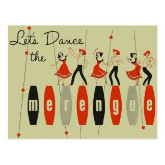 Cartão Postal Deixe-nos dançar o Merengue